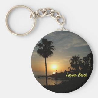Laguna Beach sunset palm keychain