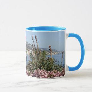 Laguna Beach surf and flowers mug