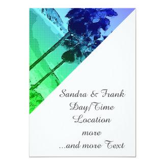 "Laguna Beach, verde toony Invitación 5"" X 7"""