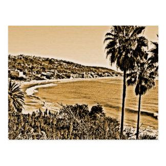 laguna beach vintage postcard