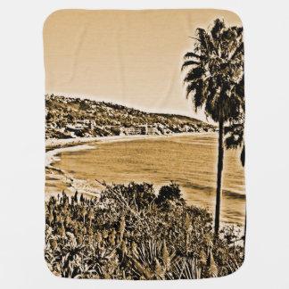 laguna beach vintage receiving blanket