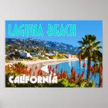 Laguna Beach Vintage Travel Poster