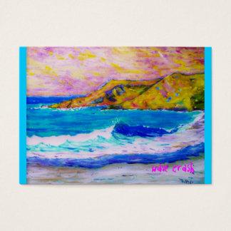laguna beach wave splash business card