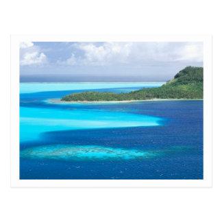 Laguna de Bora Bora, Polinesia francesa Tarjeta Postal