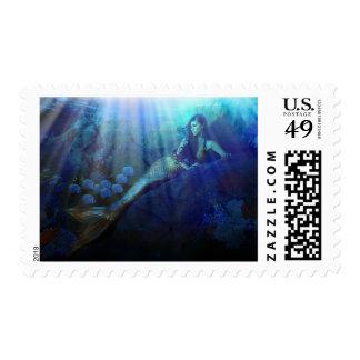 Laguna de la sirena timbre postal