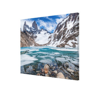 Laguna De Los Tres And Mount Fitzroy Canvas Print