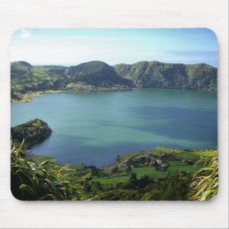 Laguna de Sete Cidades en S. Miguel, Azores Alfombrilla De Ratones
