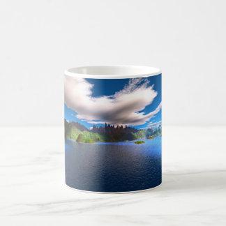 Laguna del azul del zafiro taza clásica