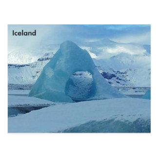 Laguna del glaciar de Jökulsárlón, Islandia Tarjeta Postal