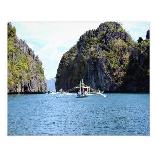 """Laguna en el EL Nido Palawan 20"""""""" impresión de la Impresiones Fotograficas"""