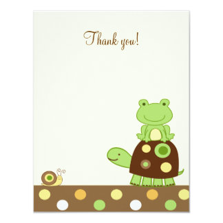 Laguna Frog & Turtle 4x5 Flat Thank you note Card