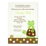 Laguna Frog & Turtle 5x7 Baby Shower Invitation #2