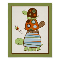 Laguna Frog Turtle Nursery Wall Art Print