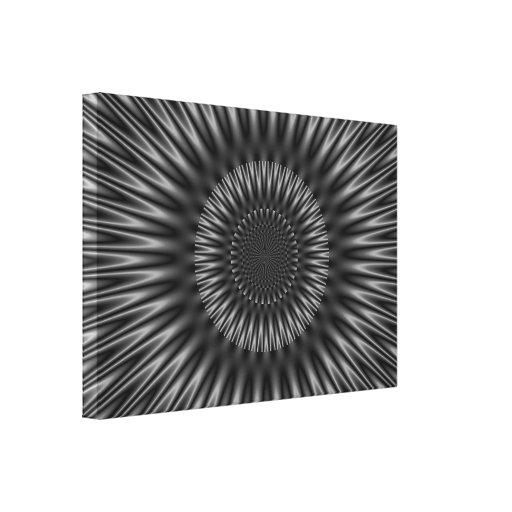 Laguna gris impresión en lona