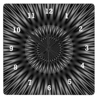 Laguna gris reloj cuadrado
