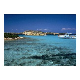 Laguna isla mediterránea de Cerdeña Anuncio
