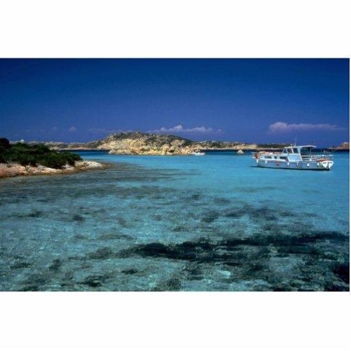 Laguna, isla mediterránea de Cerdeña Escultura Fotografica