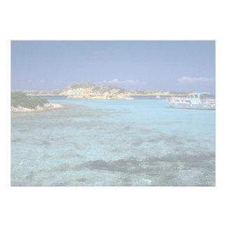 Laguna isla mediterránea de Cerdeña Invitaciones Personales