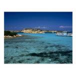 Laguna, isla mediterránea de Cerdeña Tarjeta Postal