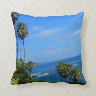 Laguna Palm Trees and Ocean Bliss Pillow