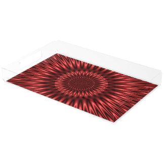 Laguna roja bandeja rectangular