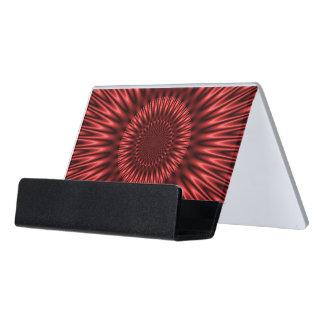 Laguna roja caja de tarjetas de visita para escritorio