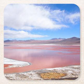 Laguna roja, Laguna Colorada en el práctico de Posavasos Personalizable Cuadrado