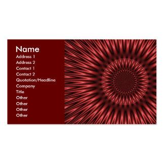 Laguna roja tarjetas de visita