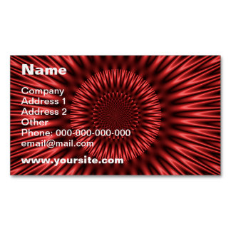 Laguna roja tarjetas de visita magnéticas (paquete de 25)