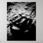Laguna Sea Shell on a Rock BW Print