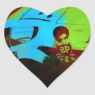 Laguna Seca Historic Racing Heart Stickers