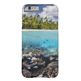 Laguna tropical en el atolón del sur de Ari en Funda Barely There iPhone 6