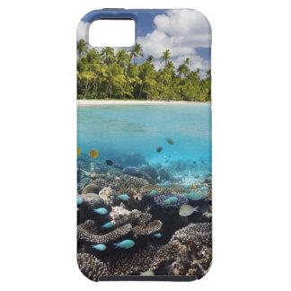 Laguna tropical en el atolón del sur de Ari en Funda Para iPhone SE/5/5s