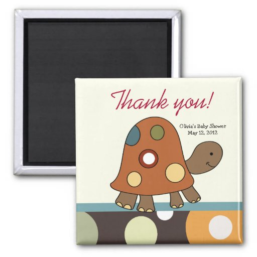 Laguna Turtle Baby Shower Favor Magnet