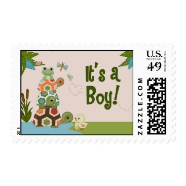 Beach Themed Laguna Turtle Baby Shower LTC Postage#2 It's a Boy Postage