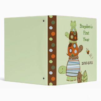 Laguna Turtle Frog Baby Photo Album Scrapbook 3 Ring Binder