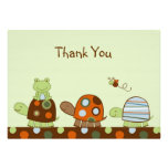 Laguna Turtle Frog Flat Thank You Note Cards Custom Invitations