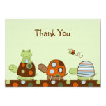 """Laguna Turtle Frog Flat Thank You Note Cards 5"""" X 7"""" Invitation Card"""