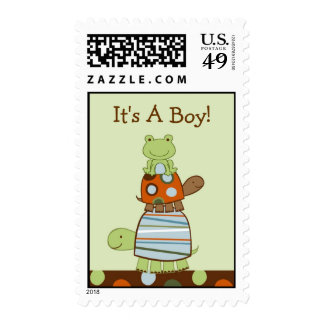 Laguna Turtle Frog Personalized Postage Stamps
