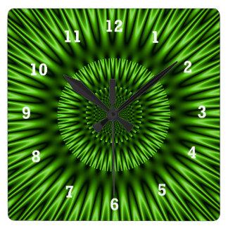 Laguna verde reloj cuadrado