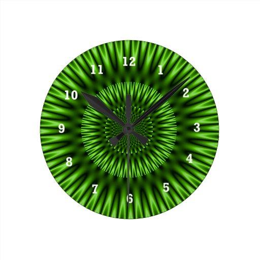 Laguna verde reloj redondo mediano