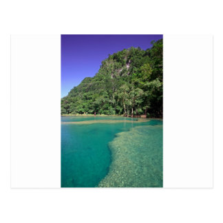 Laguna verde Semuc Champey Guatemala del paraíso Postal