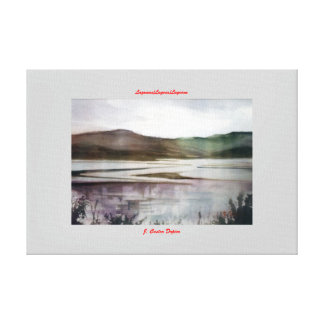 Lagunas/Lagoas/Lagoons Impresión De Lienzo