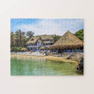 Lagune Beach Sun Island India. Jigsaw Puzzle
