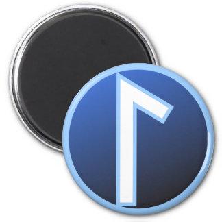 Laguz Laukaz Rune 2 Inch Round Magnet