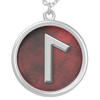 Laguz Round Pendant Necklace