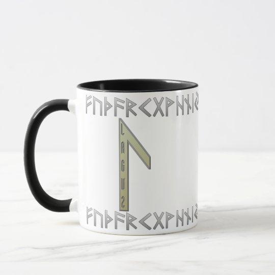 Laguz Rune gold Mug