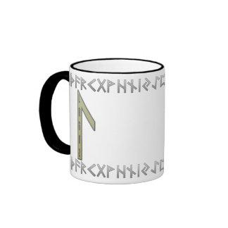 Laguz Rune gold Ringer Mug