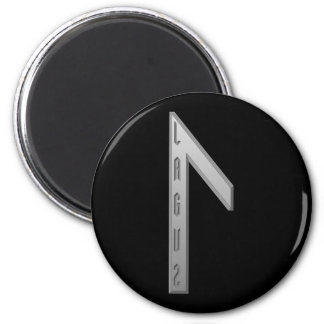 Laguz Rune grey 2 Inch Round Magnet