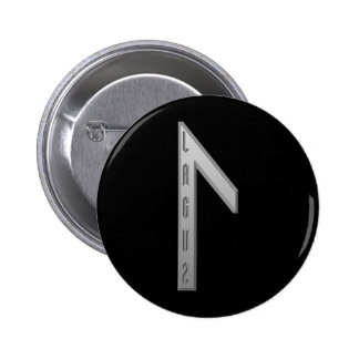 Laguz Rune grey Pinback Button